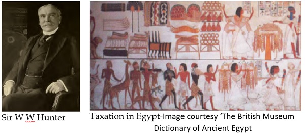 Sir W W Hunter and Taxation in Egypt-Image courtesy 'The British Museum Dictionary of Ancient Egypt