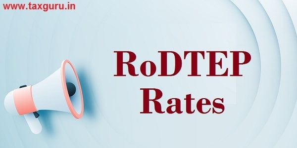 Announced RoDTEP Rates