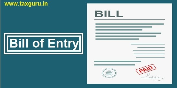 Bill Entry