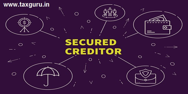 Business illustration showing the concept of secured creditor