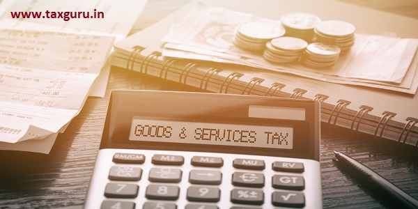 Calculator with text Goods & Services Tax