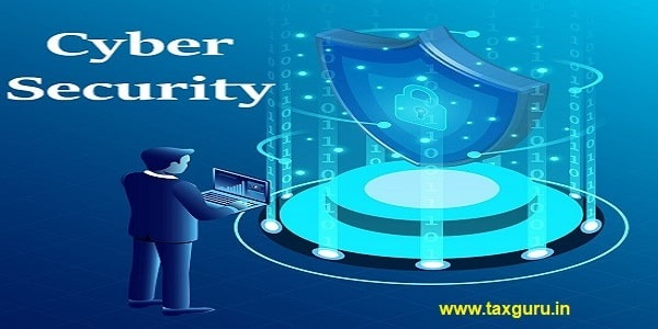 Cyber security concept banner with businessman protect data