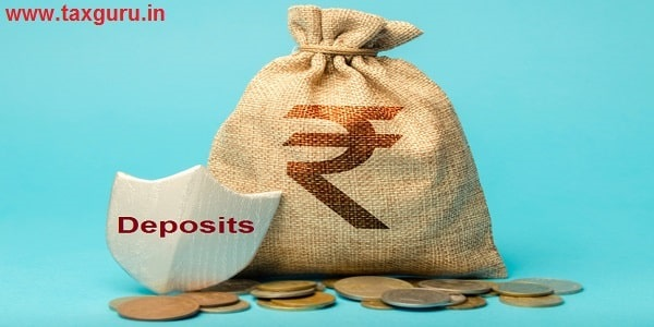 Deposits - Bag with rupee symbol and protection shield