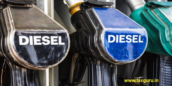 Diesel fuel pistols on a gas station refueling stand