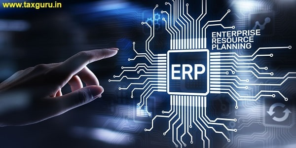 Enterprise resource planning business and modern technology concept