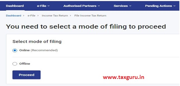 File ITR through Common Offline Utility available on New Income Tax Portal