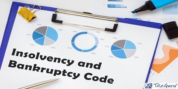 Financial concept meaning Insolvency and Bankruptcy Code with sign on the piece of paper.