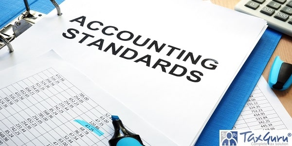 Folder with documents accounting standards on a table
