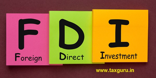 Foreign Direct Investment (FDI) written on color notes