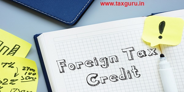 Foreign Tax Credit with inscription on the sheet