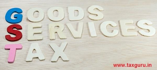 GST or Goods and Services Tax alphabet letters