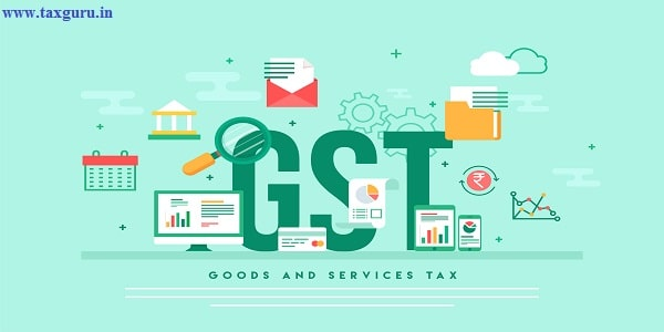 Good Service Tax (GST) concept with finanical elements