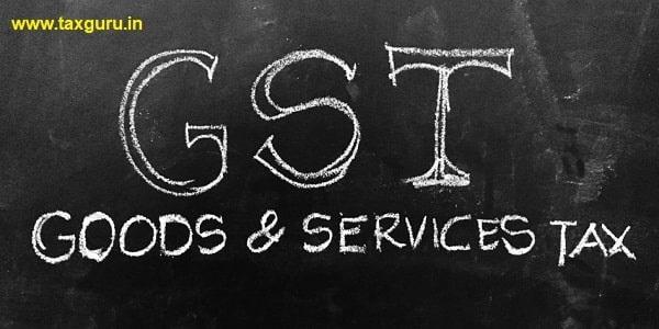 Goods & Services Tax Handwritten on Blackboard