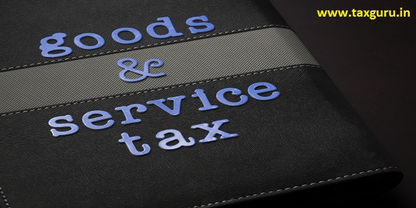Goods and Service Tax wording on book cover