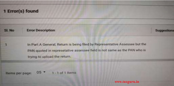 HUF is not representative assessee filing the return as per section 160 of the Act