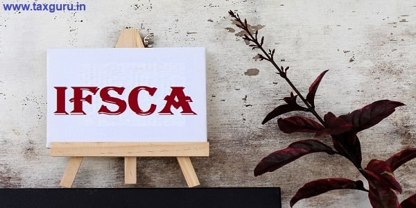 IFSCA - business concept words on canvas with rustic wooden background