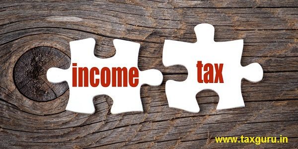Income Tax - words on puzzle. Business conceptual