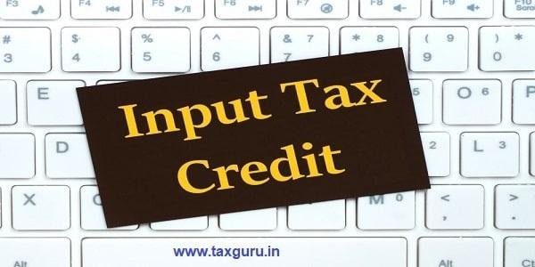input tax credit, abbreviation on craft paper card