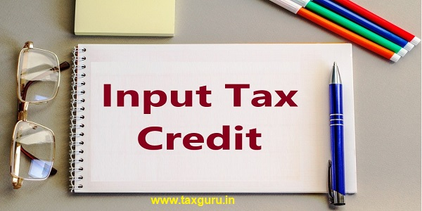Input Tax Credit flat lay of office essentials on marble background