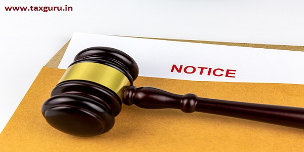 Judges gavel or hammer on document of prosecution about Notice