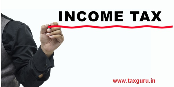 Man write Income Tax on white board