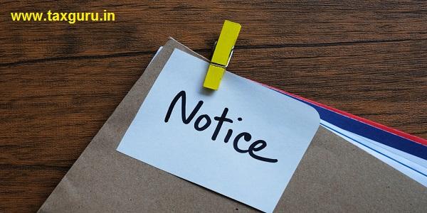 Notice message concept written post it on envelope