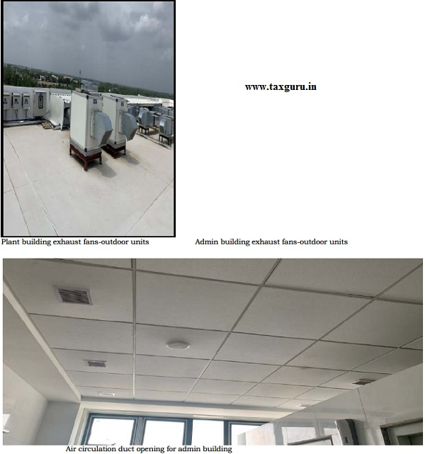 Photographs submitted pertaining to Ventilation