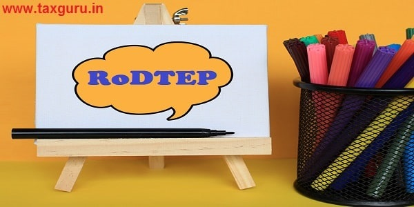 RoDTEP - Concept of text at canvas with stand and basket pen on wooden table