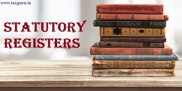 Statutory Registers - Books, old, stacked