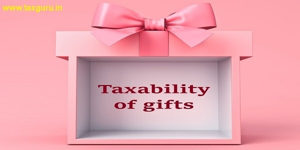 Taxability of gifts on pink background