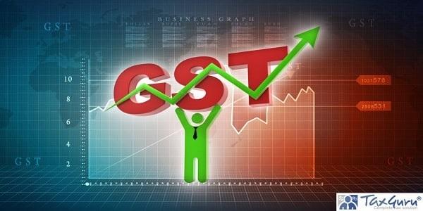 3d Illustration GST Tax holding business man,business Concept