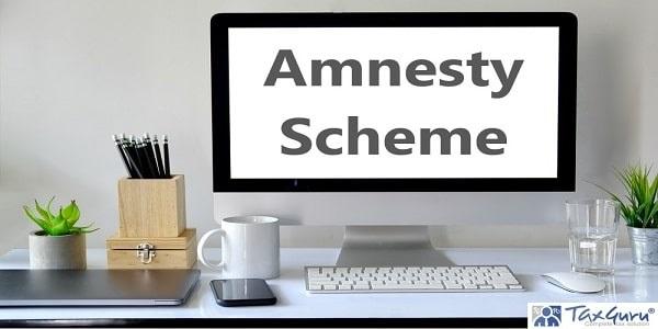 Amnesty Scheme - Creative designer workspace mockup with desktop computer screen