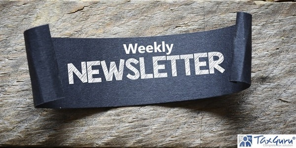 Black paper with weekly newsletter
