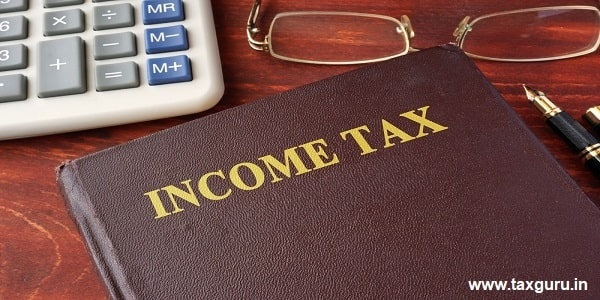 Book with title of Income Tax