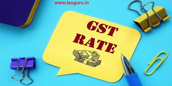 Business concept about GST Rate with inscription on the sheet