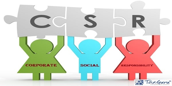 CSR - Corporate Social Responsibility puzzle in a line image