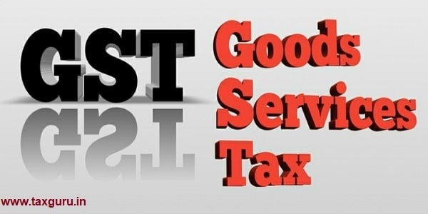 Closeup of GST (Goods and Services Tax) word on white background