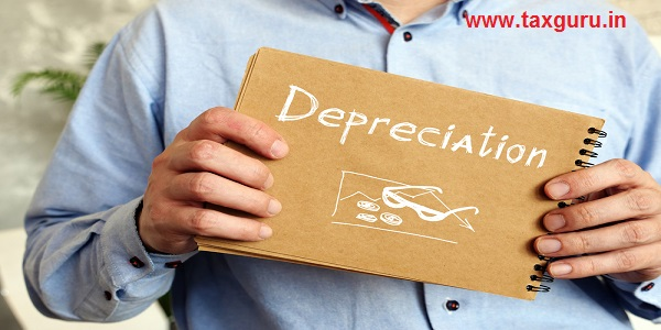 Financial concept meaning Depreciation with sign on the page