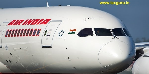 First flight Boeing 787 Dreamliner VT-ANP Air India to the Moscow Domodedovo International airport