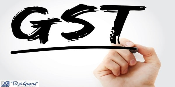 GST - Goods and Service Tax acronym with marker