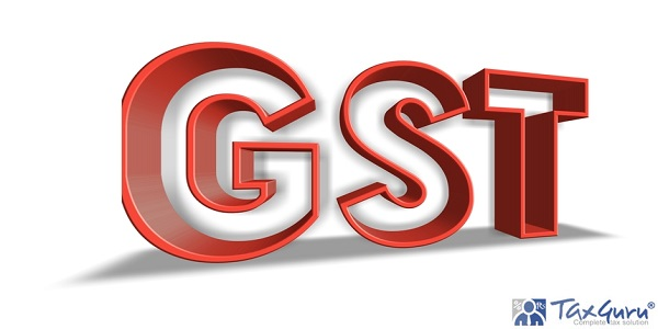 GST (Goods and Services Tax) word in 3d letters illustrate explosive growth