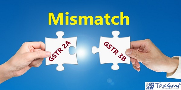 GSTR 2A/GSTR 3B Mismatch