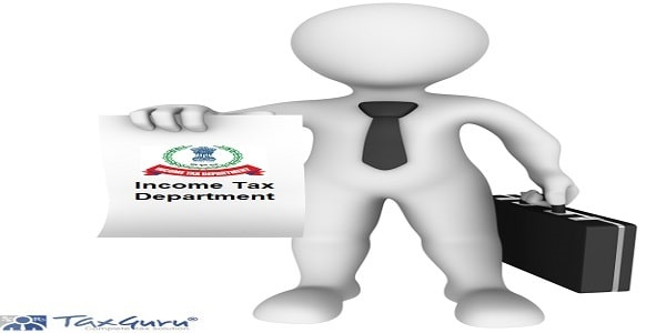 Income Tax Department - 3d businessman with blank board in hand