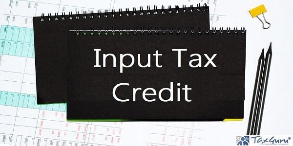 Input Tax Credit on black note