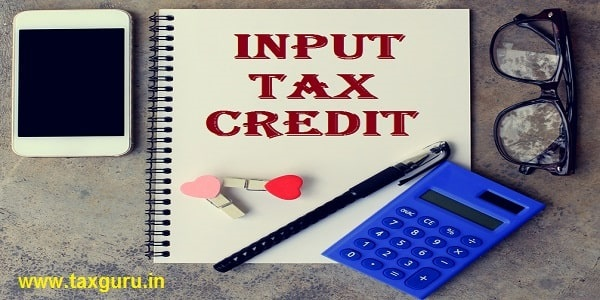 Input Tax Credit text on notebook