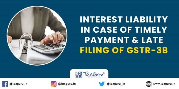 Interest Liability In Case of Timely Payment & Late Filing of GSTR-3B