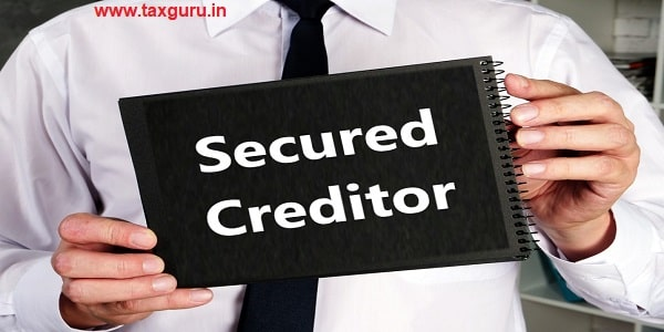 Juridical concept meaning Secured Creditor with inscription on the sheet