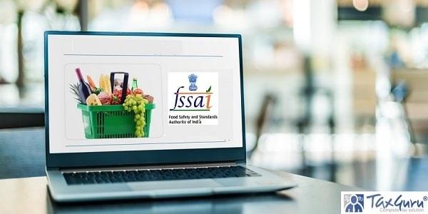 Laptop computer displaying an fssai