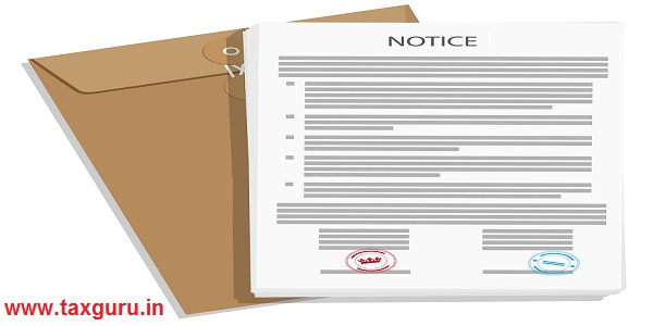 Notice and envelope
