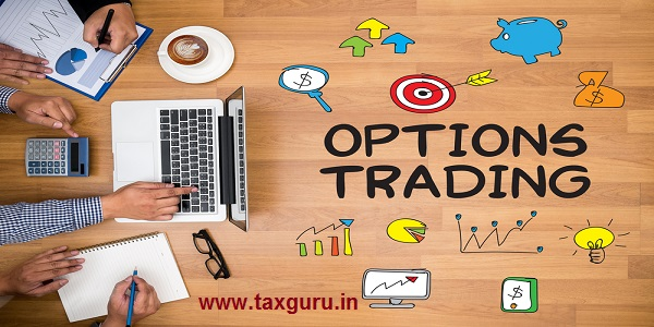 OPTIONS TRADING Business team hands at work with financial reports and a laptop